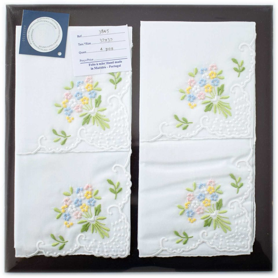 Embroidered handkerchief 3845-C